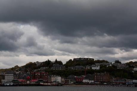 Photo - Dark cloud over Oban bay