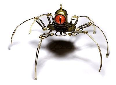 Steampunk Cyclopean Spiders