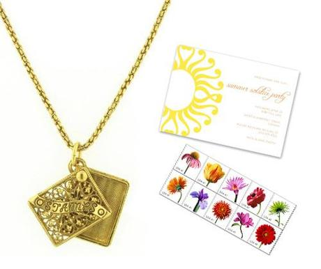stamp holder pendant necklace