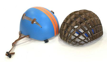 Cardboard Bike Helmet