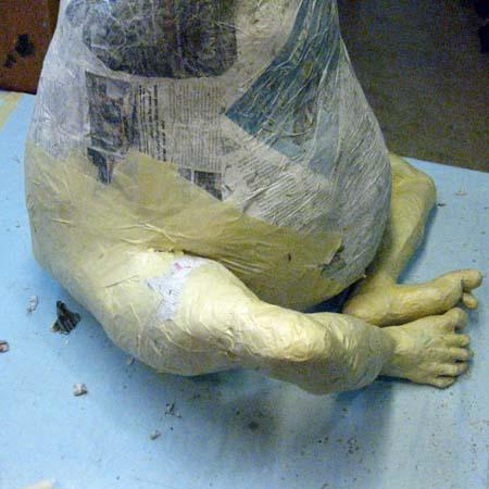 Paper Mache Buddha with Jo- Feet, hands, legs
