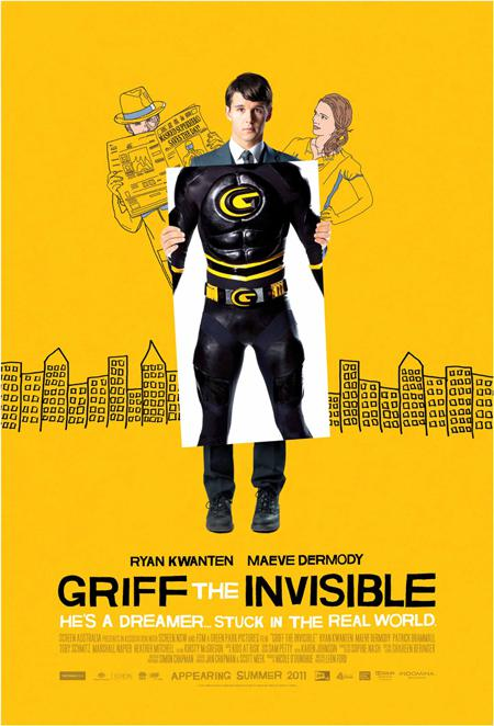 "New Poster for Ryan Kwanten's ""Griff the Invisible"""