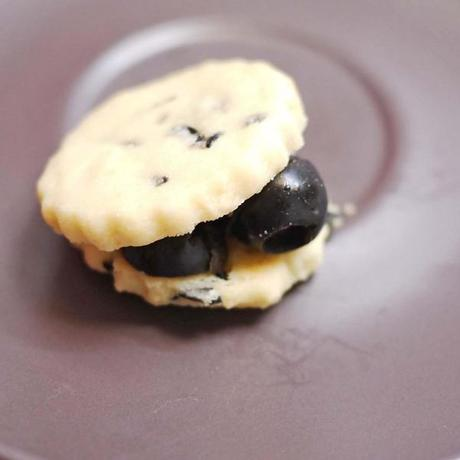 Black Olive Sable Cookies