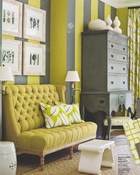 Lime Stripe Interior