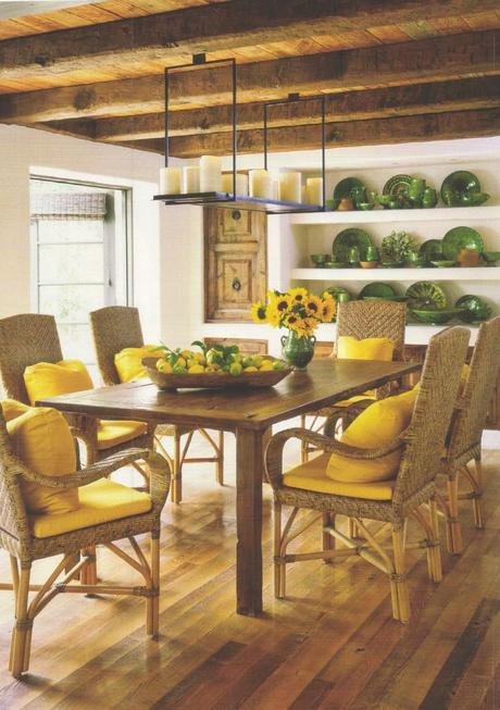 Rustic Lemon Dining Room