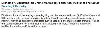 Recommending My Blog on LinkedIn