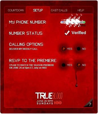 True Blood Line: Get a Weekly Call from a True Blood Cast Member
