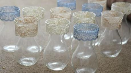 Wedding Vases pt 2 I used all purpose craft glue which obviously dries