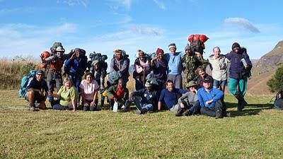 Northern Drakensberg Traverse - Forsdick group - May 2011
