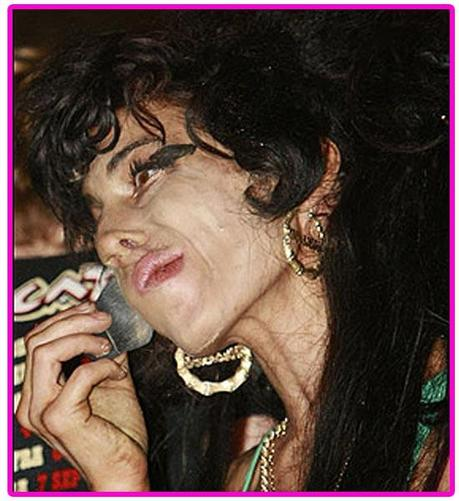 Terrible Pictures of Amy Winehouse Drunk, Tweeking, Stoned, and/or Anorexic