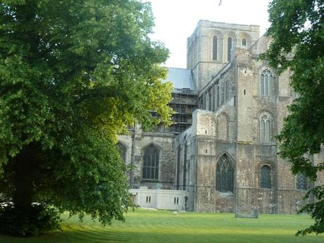 View of Winchester Cathedral from Wessex Restaurant