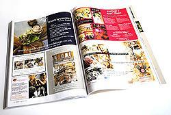 UK wedding magazine review advertising spread