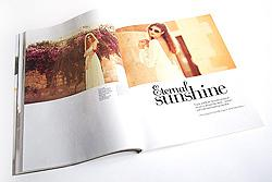Eternal Sunshine bridal shoot in Cosmopolitan Bride magazine