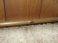 Freeze damaged radiator pipe