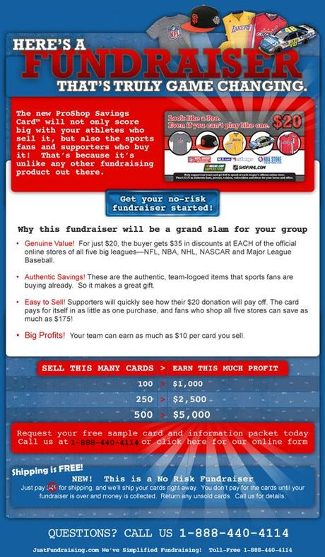 New Fundraising Discount Card – ProShop Savings