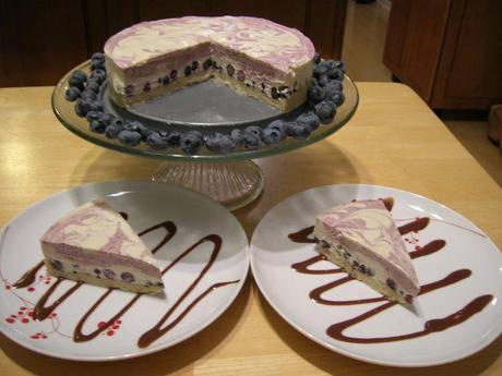 White Chocolate Blueberry Probiotic Cheesecake