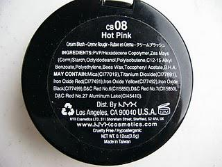 Blush Pick of the Week: NYX Cream Blush in Hot Pink