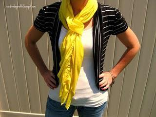 Ruffled Scarf perfect for Spring!