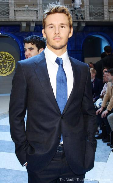 Ryan Kwanten attends Versace fashion show in Milan