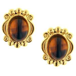 tiger eye stud earrings
