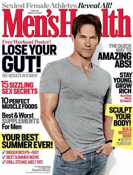 Stephen Moyer featured in Men's Health Magazine