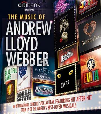 Another show opening this Friday--The Music of Andrew Lloyd Webber!