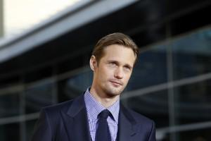 Alexander Skarsgard on the red carpet at the season 4 premiere of True Blood