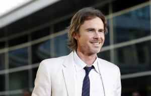 Sam Trammell on the red carpet at the season 4 premiere of True Blood