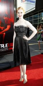 Deborah Ann Woll on the red carpet at the season 4 premiere of True Blood