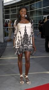 Rutina Wesley on the red carpet at the True Blood season 4 premiere