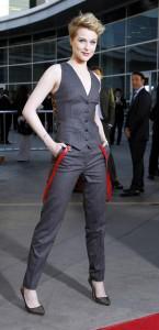 Evan Rachel Wood on the red carpet of the season 4 premiere of True Blood