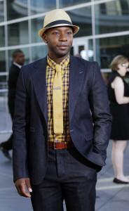 Nelsan Ellis on the red carpet at the season 4 premiere of True Blood