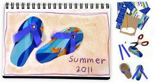 Art Journaling 135, Summer Flip Flops