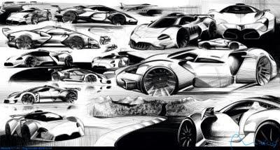 Car sketches on paper still important in digital world