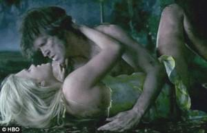Sookie and Bill getting sexy in True Blood season 1