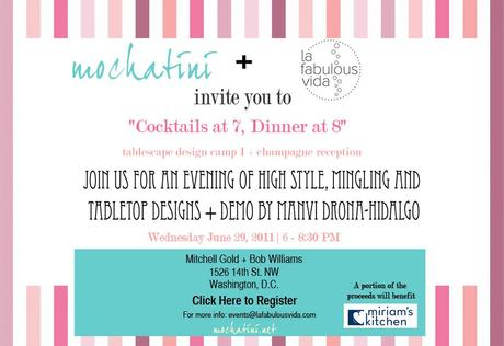 In the DC area next Wednesday?  Then you must come to this chic, fun event (and say hi to me and Manvi from Mochatini!)