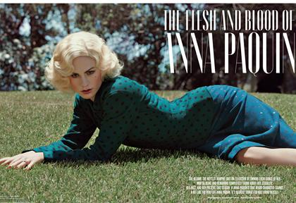 Anna Paquin featured on VMagazine