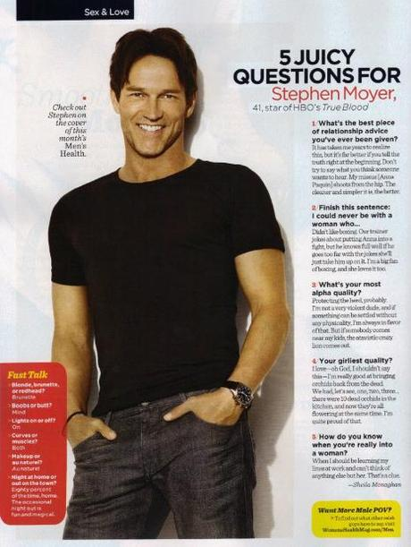 5 Juicy Questions for Stephen in Women's Health Magazine