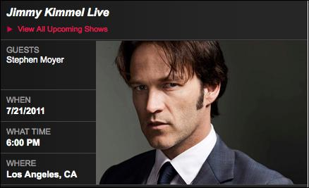Stephen Moyer on Jimmy Kimmel Live