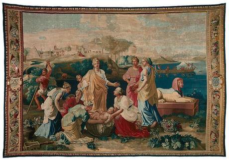 Poussin et Moise - Du dessin à la tapisserie