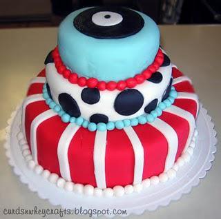 Vintage Diner Birthday Cake