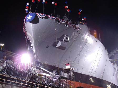 Christening and Launch of Navy Ship