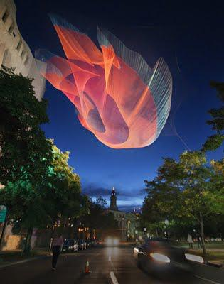 Installation ::: Aerial Sculptures by Janet Echelman