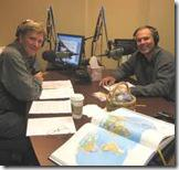 Rick Steves in Radio Studio