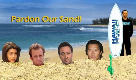 """Hawaii In Vermont"" #H50 Podcast Blog remodeling!  Check out the cute 'Pardon Our Sand' manip by Listener Bill!"