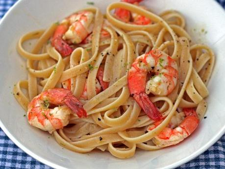 Citrus Roasted Shrimp with Linguine