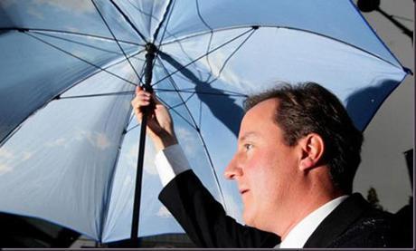 David Cameron brolly