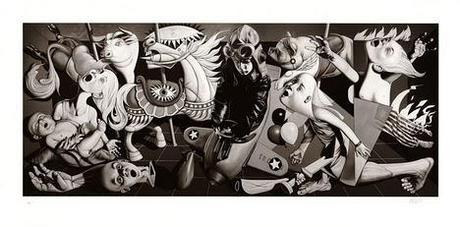 Ron English — Grade School Guernica Print