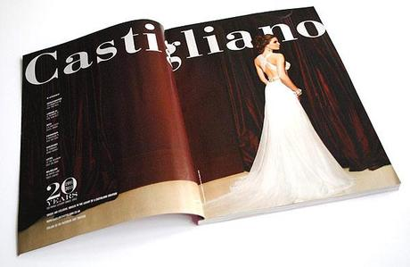 Caroline Castigliano advert in a UK wedding magazine