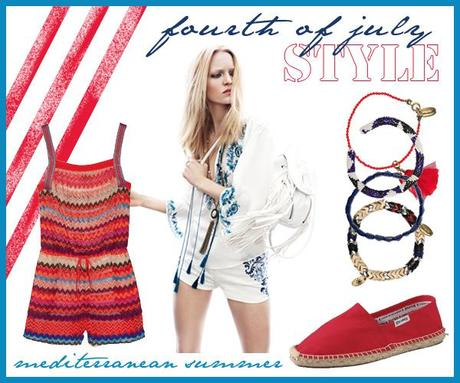 Fourth of July style: mediterranean summer